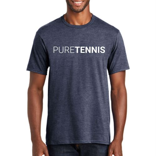 Midwest Sports Pure Tennis Tee Heather Navy MWPURET HNY