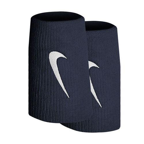 Nike Tennis Premier Doublewide Wristbands - Obsidian/White