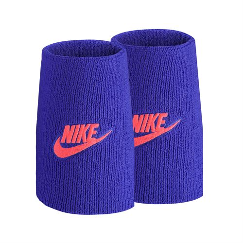 Nike Tennis Premier Doublewide Wristbands - Concord/Laser Crimson