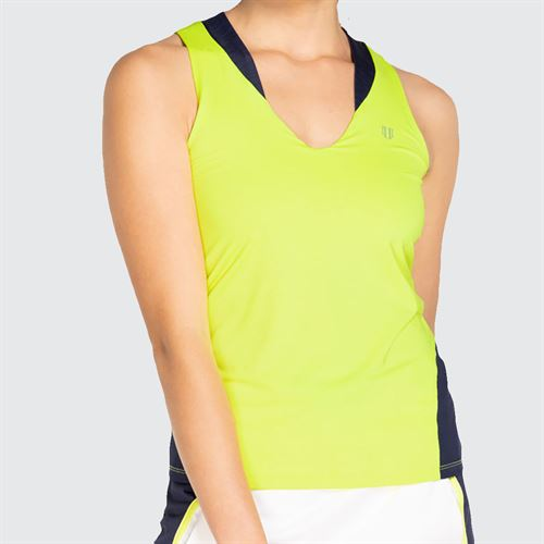 Eleven Neon Dreams True Love Tank Top Womens Limeade/Navy ND3816 325