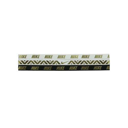 17bd13730ca7c Nike Metallic Hairbands - 3 Pack White Black