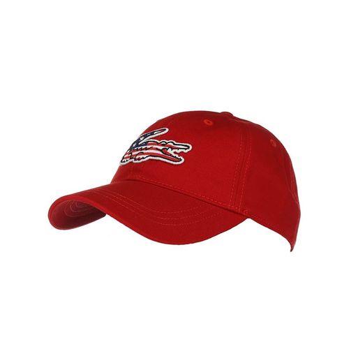 5dd20754060 Lacoste Big Croc USA Gabardine Hat - Rouge