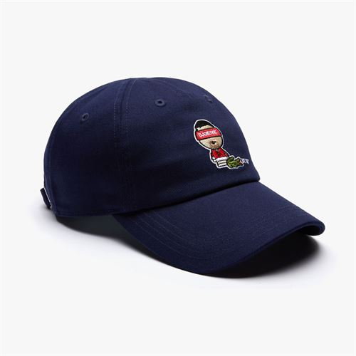 Lacoste Novak Djokovic Athlete Hat - Blue/White