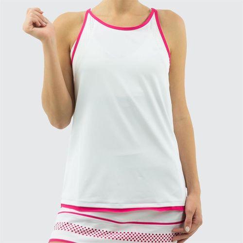 Inphorm Summer Capsule AArica Tank - White/Pink