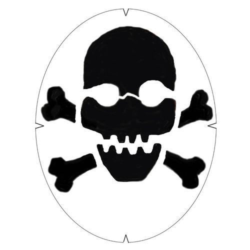 Tourna Skull and Crossbones Stencil