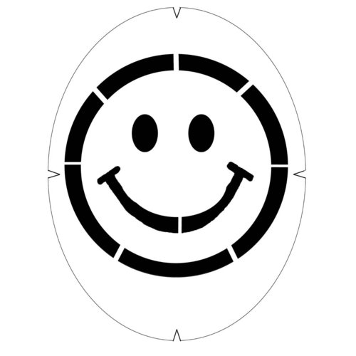 Tourna Smiley Face Stencil