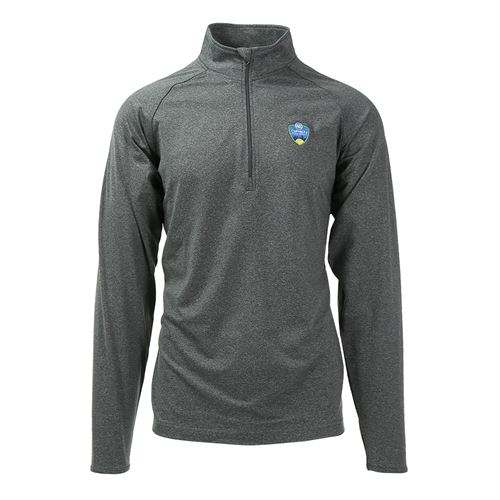 W&S Open 1/4 zip Pullover - Charcoal Grey
