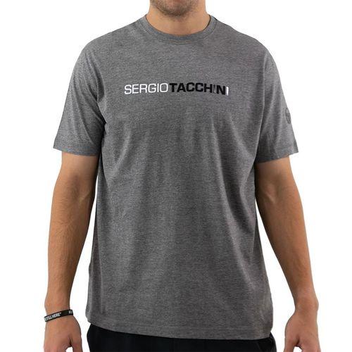 Sergio Tacchini Robin Tee Shirt Mens Dark Grey/White/Black STMF2038917 926