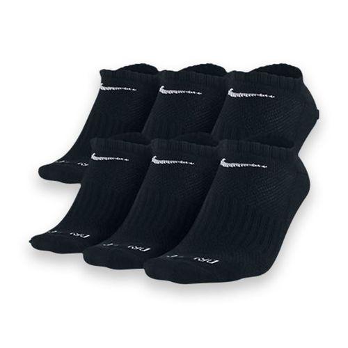 Nike Dri-FIT No Show 6-Pack Sock Black