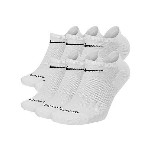 Nike Everyday Plus Training Cushion No Show Mens Sock - White/Black
