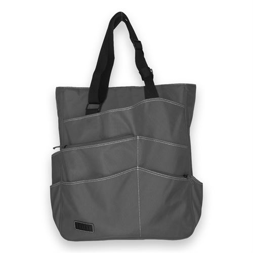Maggie Mather Tennis Super Tote Pewter