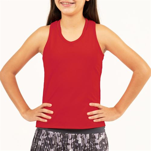 Lucky in Love Camo Groove Girls V Neck Cutout Tank Crimson T207 803
