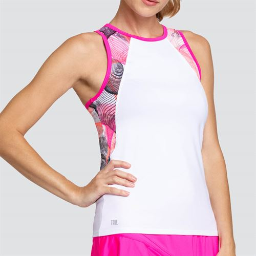Tail Vivid Cerise Crew Neck Tank - Chalk