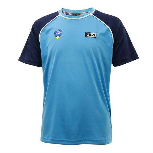 Fila Western & Southern Open Boys Ball Crew Shirt - Bonnie Blue/Navy/White