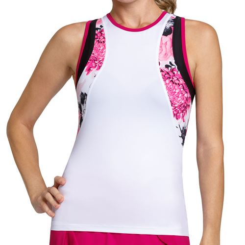 Tail Happy Hour Racerback Tank Womens Chalk TF2514 1207