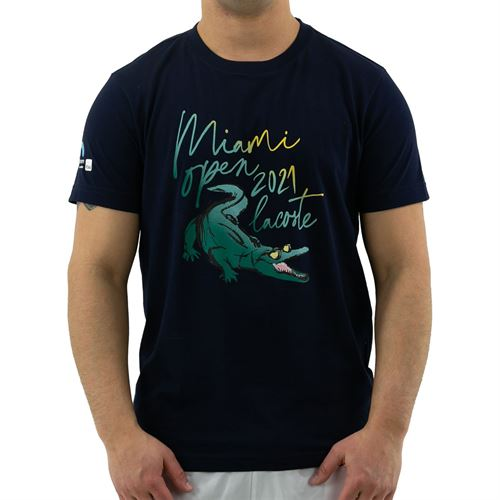 Lacoste Miami Open Tee Mens Navy Blue TH4677 166û