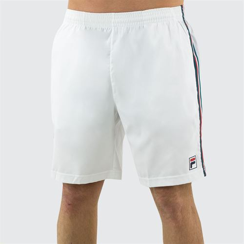 Fila Legend Short Mens White/Pacific/Chinese Red TM015372 100
