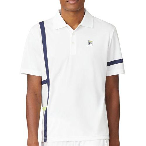 Fila PLR Singles Polo Mens White TM016282 100