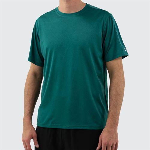 Fila Legend Heathered Mesh Crew Shirt Mens Pacific Heather TM16427 982