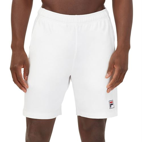 Fila Heritage Tennis Short Mens White/Navy/Chinese Red TM036848 100