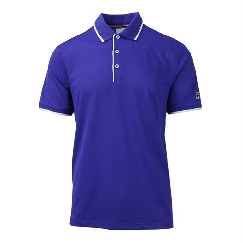 Fila Heritage Mesh Polo - Clematis Blue/White/Chinese Red