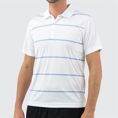 Fila Set Point Striped Polo Mens White/Little Boy Blue TM191682 100