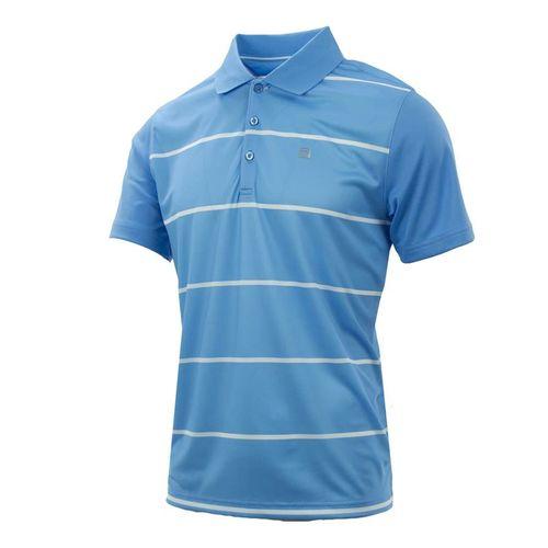 Fila Set Point Striped Polo - Little Boy Blue/White