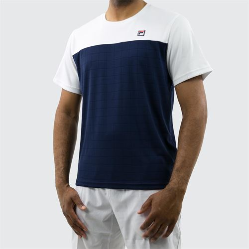 36465215ade Fila Heritage Grid Crew, TM191944 100 | Men's Tennis Apparel