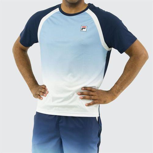 Fila Legend Ombre Print Crew Shirt, Navy/White/Placid Blue