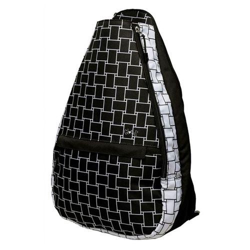 Glove It Tennis Backpack - Basketweave Black/White
