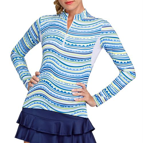 Tail Fun in the Sun Happy Long Sleeve 3/4 Zip Top Womens Summer Waves TS2810 L680