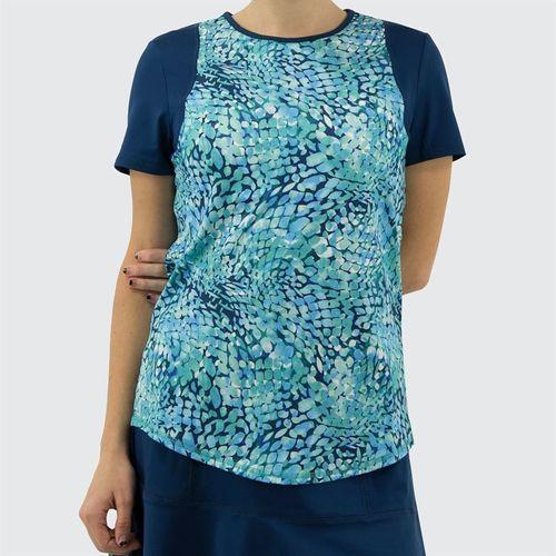 Jofit Hot Toddy Colorblock Tennis Tee Shirt Womens Cove TT094 COV