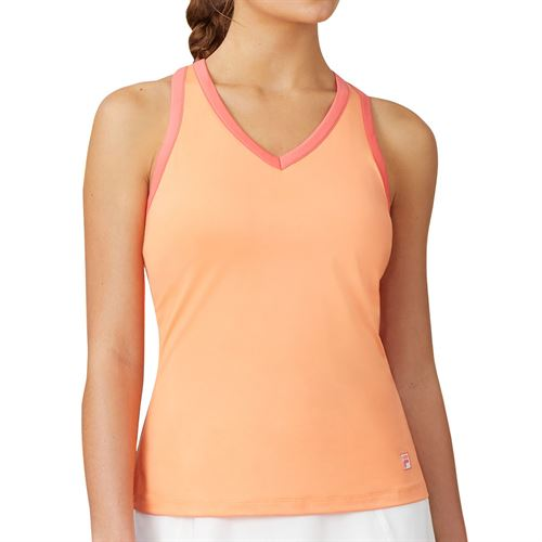 Fila Mad For Plaid Crossback Cami Tank Womens Melon/Calypso Coral/White TW015547 879