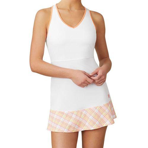 Fila Mad For Plaid Dress Womens White/Plaid/Melon TW015548 100