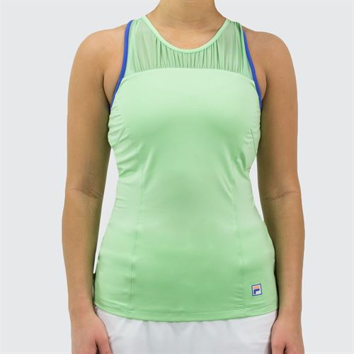 Fila Colorful Play Racerback Tank Womens Green Ash/Amparo Blue TW015555 378