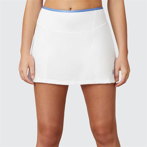 Fila Colorful Play A Line Skirt Womens White/Amparo Blue TW015562 100