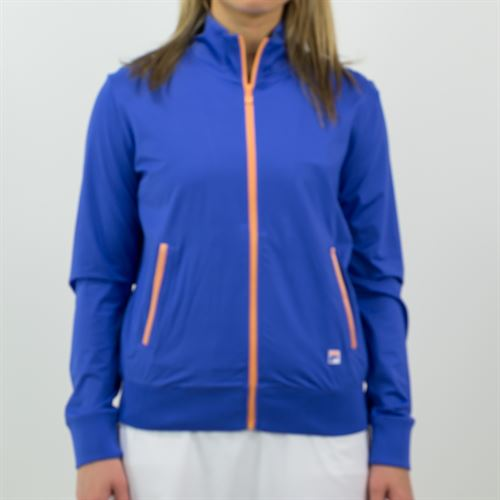 Fila Colorful Play Jacket Womens Amparo Blue/Green Ash TW015563 499