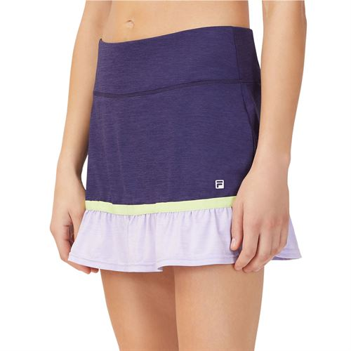 Fila Back Court Flare Skirt Womens Purple TW036892 557