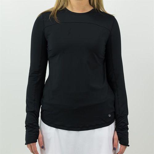 Fila Long Sleeve Top Womens Black TW151JF2 001