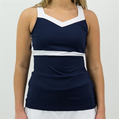 Fila Heritage Full Coverage Tank Womens Navy/White TW171TV8 412