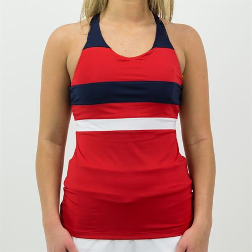 Fila Heritage Strappy Tank Womens Chinese Red/Navy/White TW171TW1 622