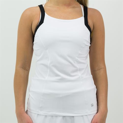 Fila Spotlight Set Tank Womens White/Black TW171UG7 100