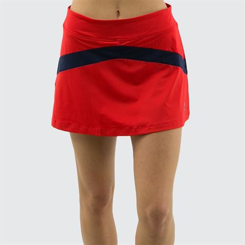 Fila Heritage Colorblocked Skirt - Chinese Red/Navy