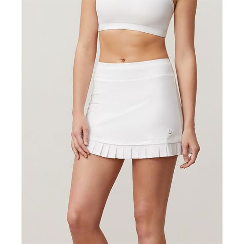 Fila Aqua Pleated Hem Skirt - White