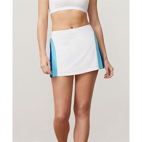 Fila Aqua Colorblocked Skirt - White/French Blue/Blue Curacao