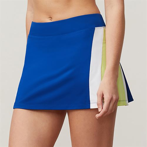 Fila Aqua Colorblocked Skirt - French Blue/White/Sharp Green