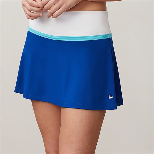Fila Aqua Flare Skirt - French Blue/White/Blue Curacao