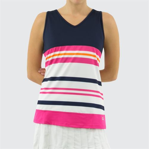 Fila Awning Full Coverage Tank Womens Navy/White/Fuchsia Purple TW933488 412