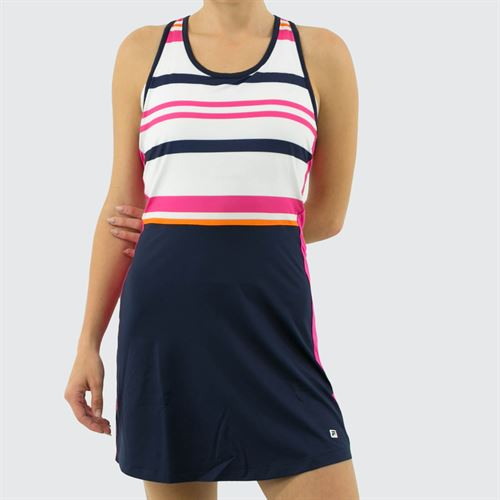 Fila Awning Dress Womens Navy/White/Fuchsia Purple TW933491 412