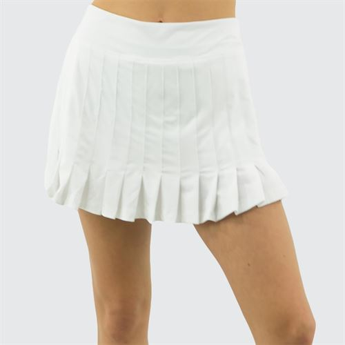 Fila Awning Pleated Skirt Womens White TW933493 100